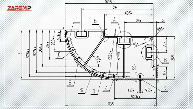 Алюминиевый профиль по чертежам